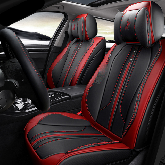 Black Red Orange Blue White Car Seat Covers Cushions For 5 Seats