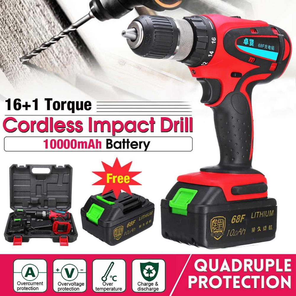 68V Electric Screwdriver Cordless Drill Mini Wireless Power Driver 2-Speed AC Lithium-Ion Battery drill hammer Power Tool68V Electric Screwdriver Cordless Drill Mini Wireless Power Driver 2-Speed AC Lithium-Ion Battery drill hammer Power Tool