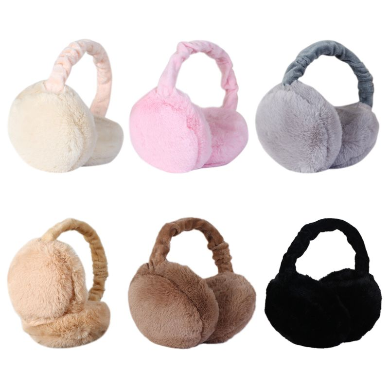 Kids Earmuff Ears Pad Warm Winter Plush Girl Earflap Earbuds Snowy Windy Warmer
