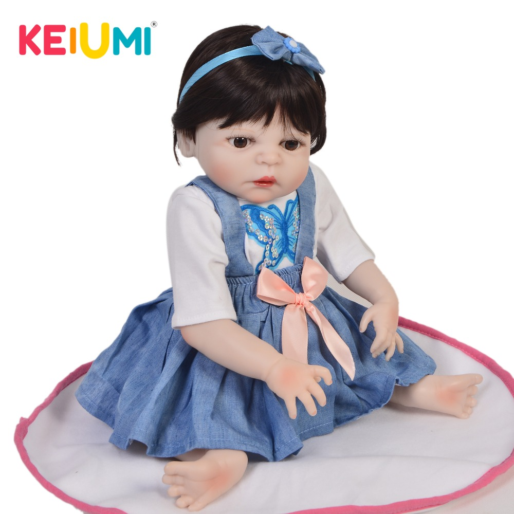Exclusive 19 Reborn Baby Dolls Girl Full Silicone Vinyl Body True To Life Boneca Reborn 48