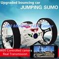 2016 New atualizado Salto Carro Dublê RC 4CH 2.4 GHz Pulando de Sumô Controle remoto com Câmera 2.0MP HD WI-FI App controle Do Carro Rc brinquedos