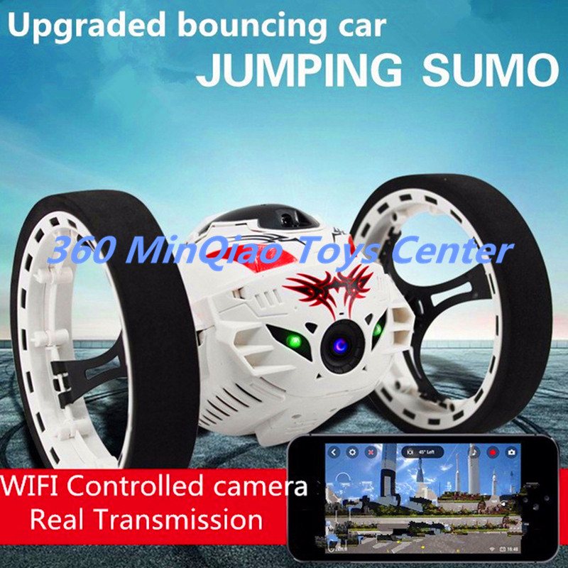 ФОТО 2016 New upgraded Bounce Stunt RC Car 4CH 2.4GHz Jumping Sumo Remote Control with 2.0MP HD WIFI Camera App controll Rc Car Toys
