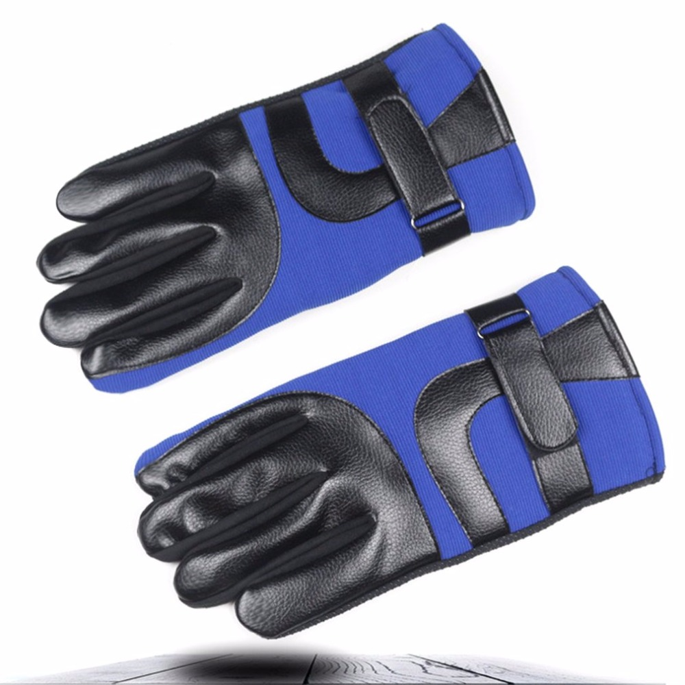 Men Warm Telefingers Gloves Soft Plus Velvet Skiing Gloves Windproof Motorcycle Gloves Spring Autumn Winter Male Protective