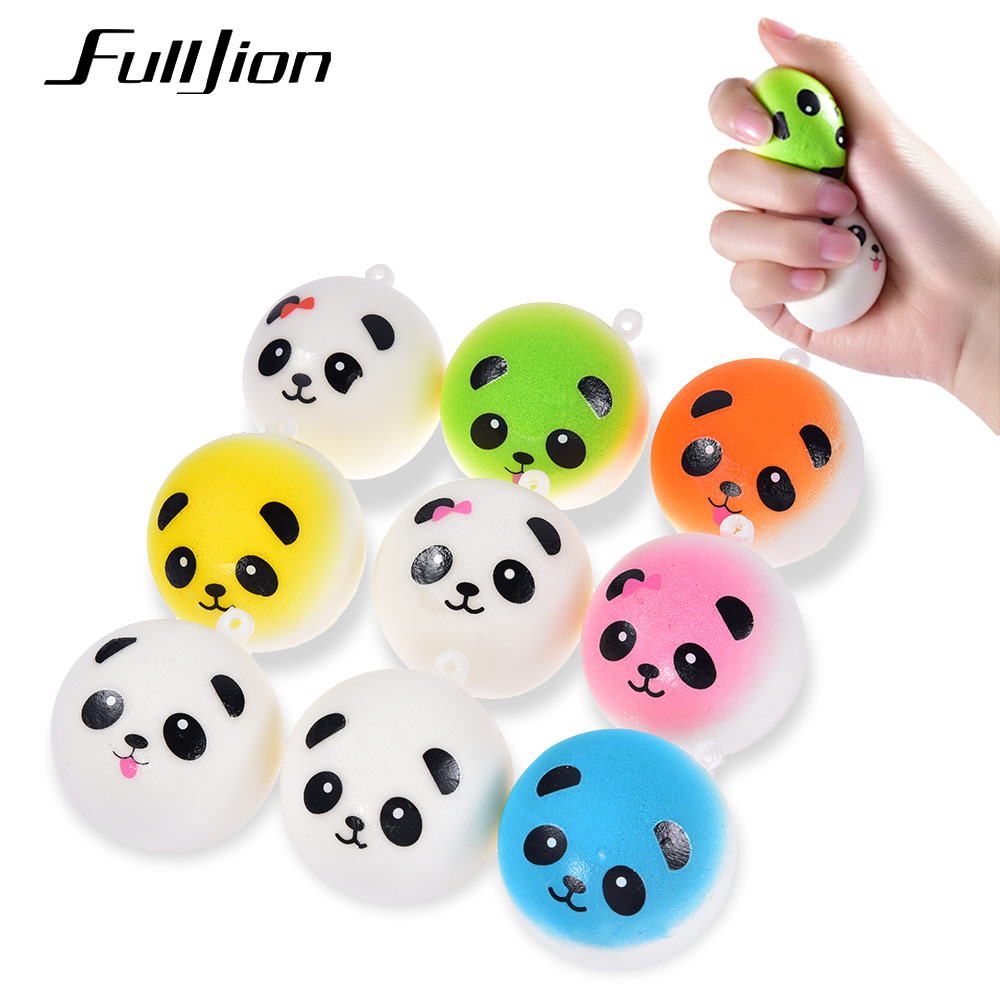 цена Fulljion Squishes Novelty Gag Toys Antistress Squishy Slow Rising Panda Squeeze Stress Relief Entertainment Fun Gadget For Phone