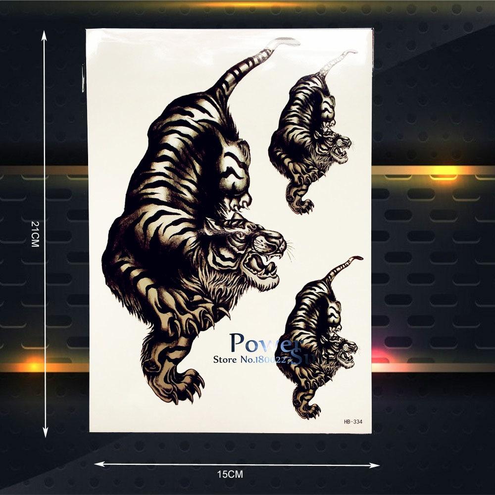 ⓪cool 3d Tygrys Wodoodporna Tymczasowa Tatuaż Mężczyźni