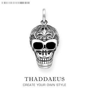 Pendant Skull Skeleton,2019 Winter Fashion Jewelry Europe Bijoux 925 Sterling Silver Accessories Gift For Woman Rebel Men