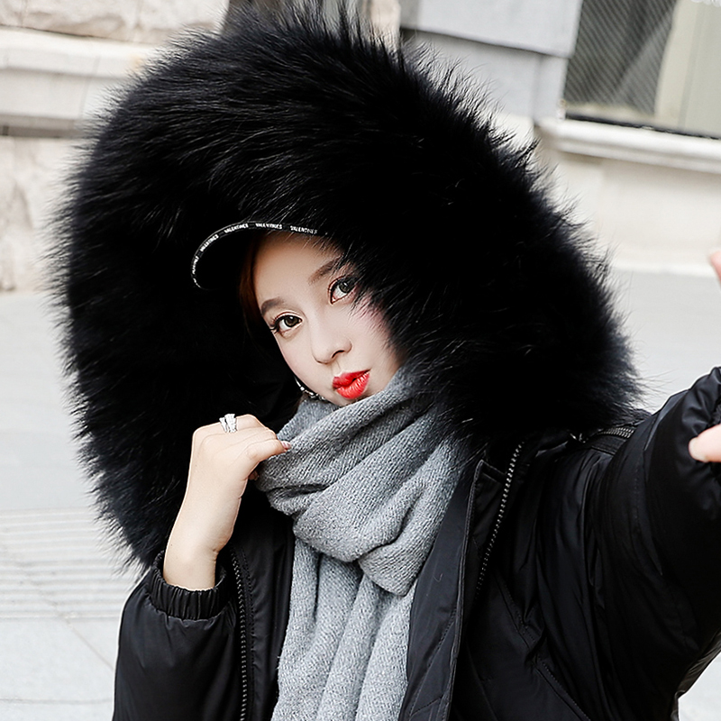 womens winter jackets and coats 2018   Parkas   for women Cotton Wadded Jackets warm Outwear With a Hood Large Faux Fur Collar
