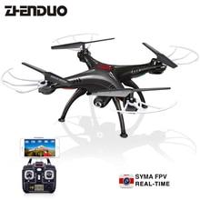 SYMA márkájú távirányító Quadcopter gyermekkori karácsonyi ajándék RC Drone HD kamerával 2.4G 6 tengelyes valós idejű kültéri hobbi
