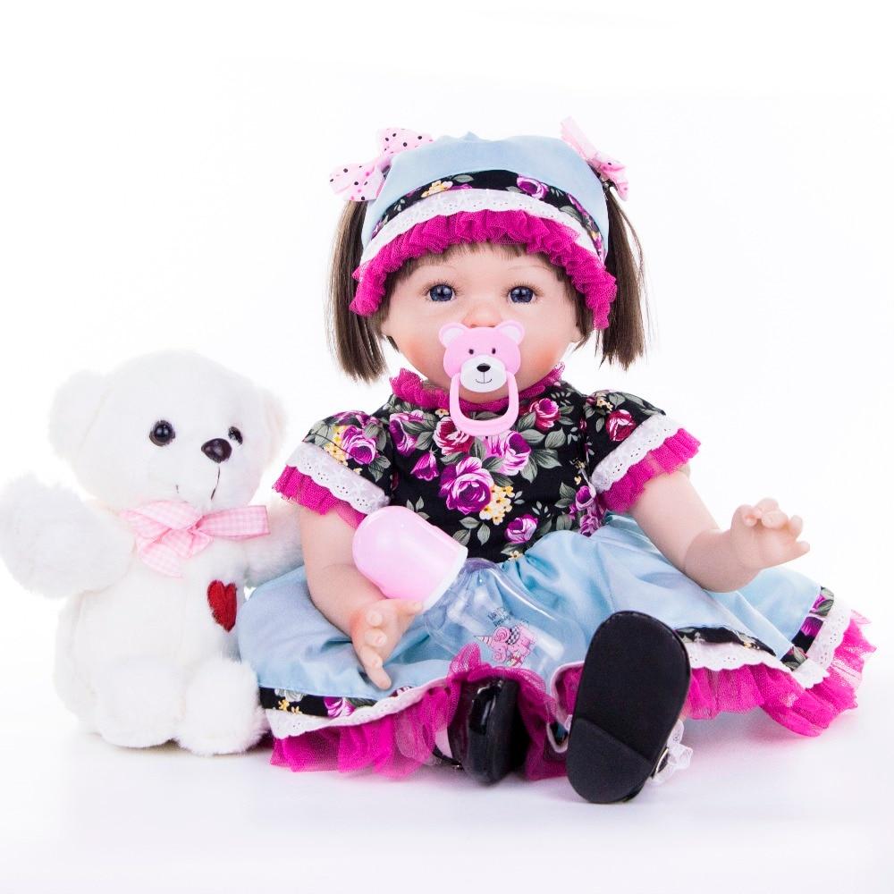 55 cm Silicone souple Reborn bébés poupées réel reborn collection poupée réaliste princesse enfants anniversaire Playmate enfants jouets bébé