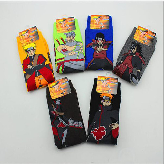 1 pairs / lot Naruto cotton cartoon socks