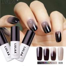 ФОТО lulaa diy thermal temperature change 18 color nail gel polish soak off uv chameleon gel polish led nail polish hot  gel