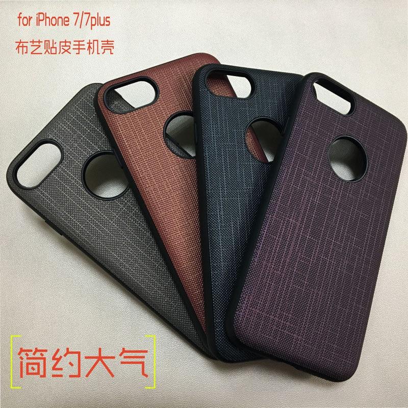 för IPhone7 mobiltelefon väska tygmönster mode läderväska allt - - Reservdelar och tillbehör för mobiltelefoner