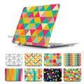 Moda único a cuadros cubierta Case para Apple MacBook Pro Retina 13 15 nuevo Mac book Air 11 12 13.3 pulgadas cáscara dura casos de protección