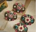 BS1981 Brincos acessórios vintage recorte strass flor brinco de moda feminina acessórios de jóias por atacado