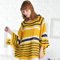 New 2015 Spring Loose Cutout Women Sweaters  Female  Fashion Bat Sleeve Pullover Free shipping