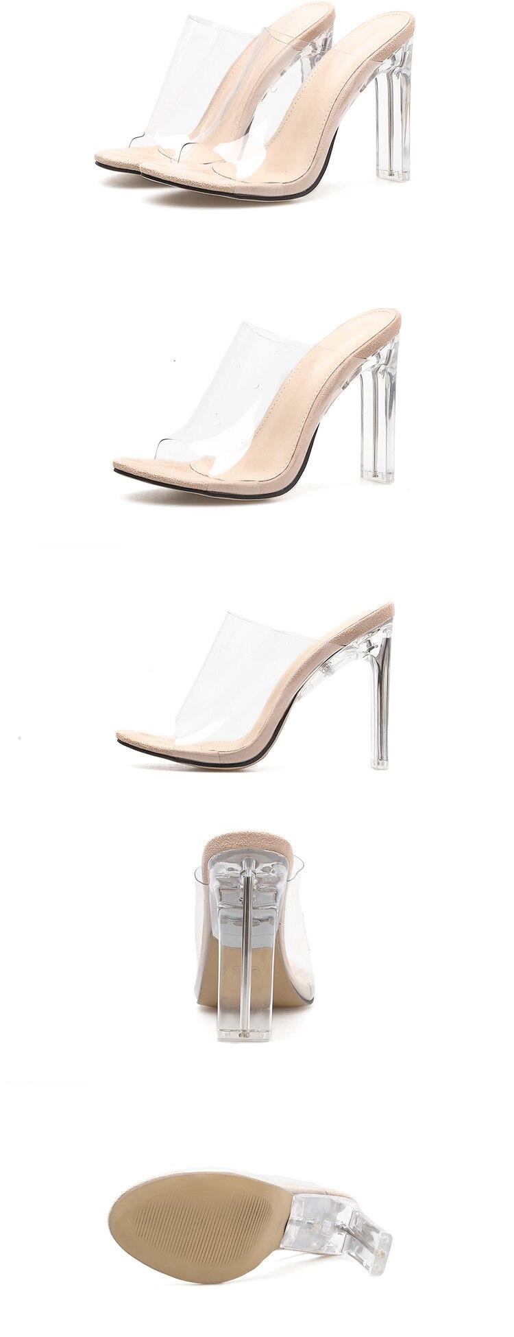 HTB1yNlBadzvK1RkSnfoq6zMwVXaE Aneikeh 2019 New PVC Jelly Sandals Crystal Open Toed Sexy Thin Heels Crystal Women Transparent Heel Sandals Slippers Pumps