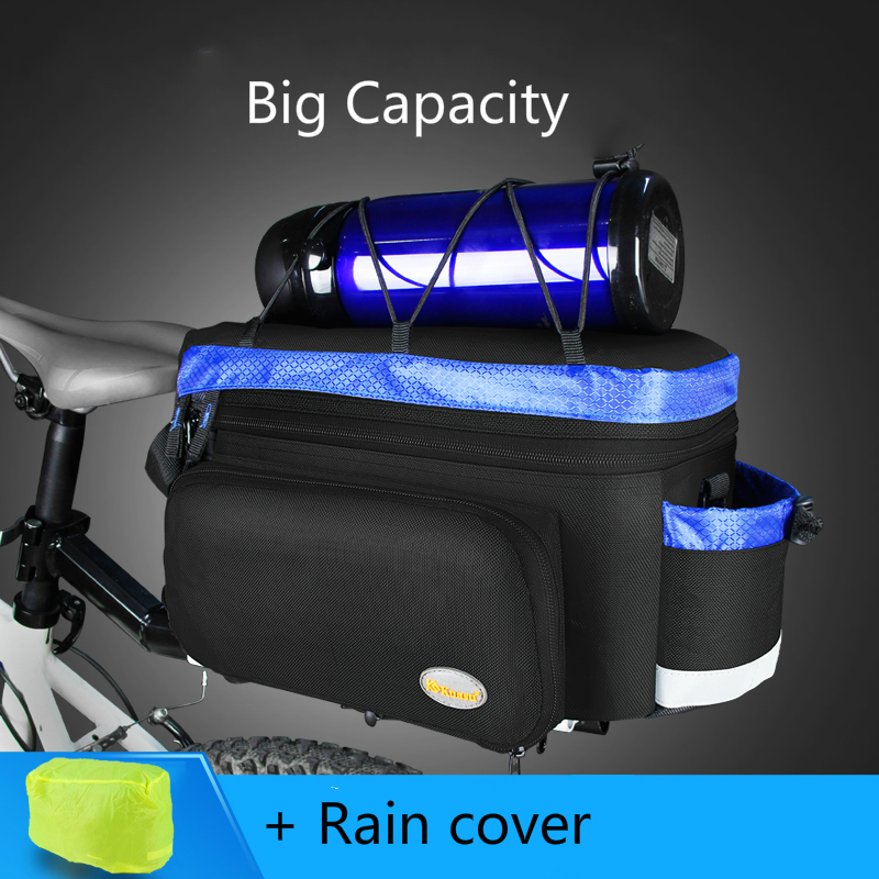 цена на Multi-function Big Capacity Bicycle Cycling Rack Bag Trunk Bag Luggage Pannier Back Seat Double Side Tail Rear Bag Saddle Bag