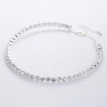 TREAZY Bridal Fashion Crystal Rhinestone Choker Necklace Women Wedding Accessories Tennis Chain Chokers Jewelry Collier Femme 2