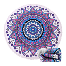 Thick Mandala Beach Towel with Fringe Tassels Indian Round Beach Pool Blanket Soft Circle Yoga Mat Boho Tablecloth Wall Tapestry все цены