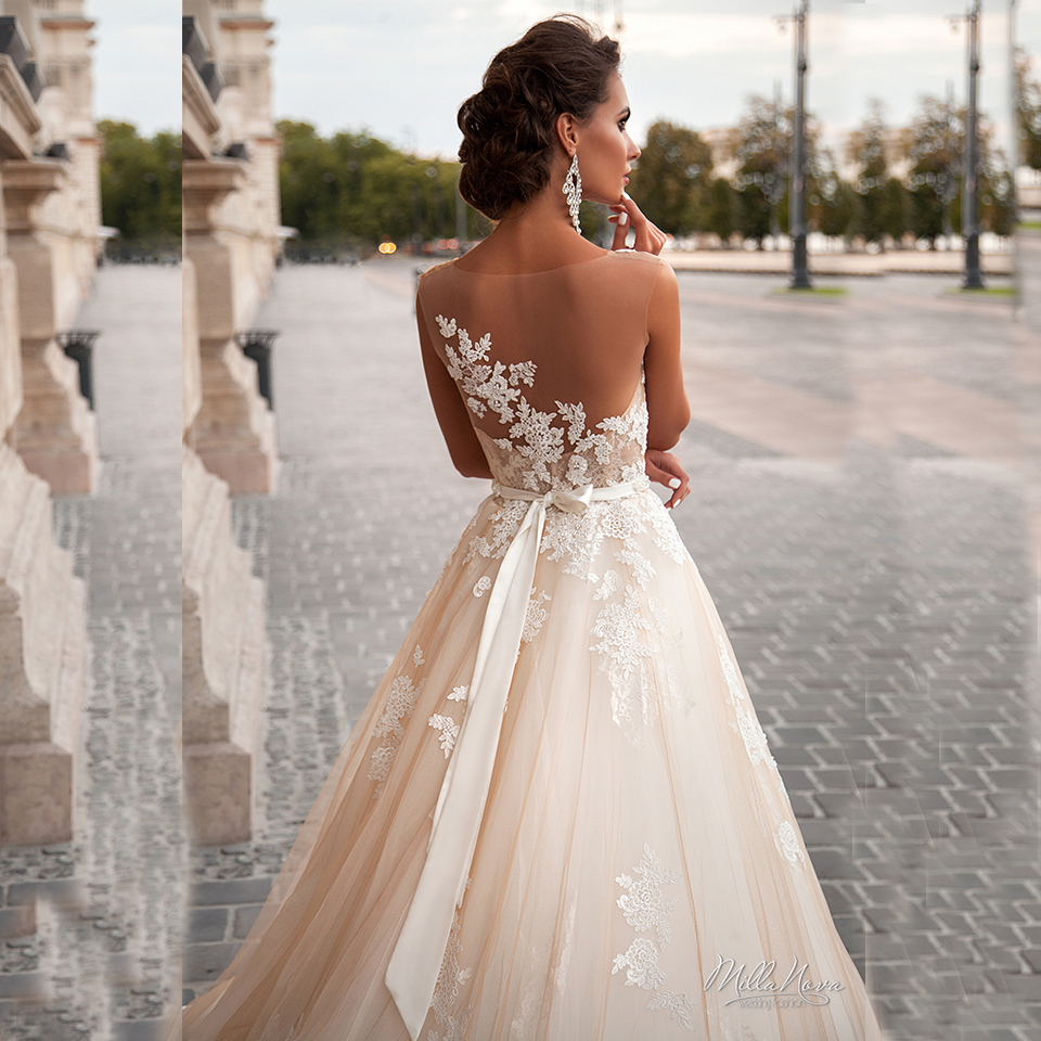 Buy 2016 new design lace wedding dress for Lace wedding dress low back