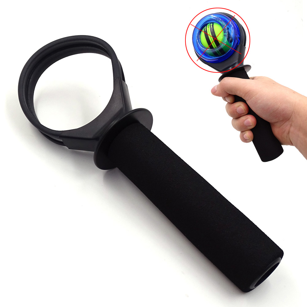 Gyro Wrist Ball Holder Gyroscope Strengthener Powerball Power Wrist Ball Force Ball Workout Exercise Arm Gym Fitness Equipment