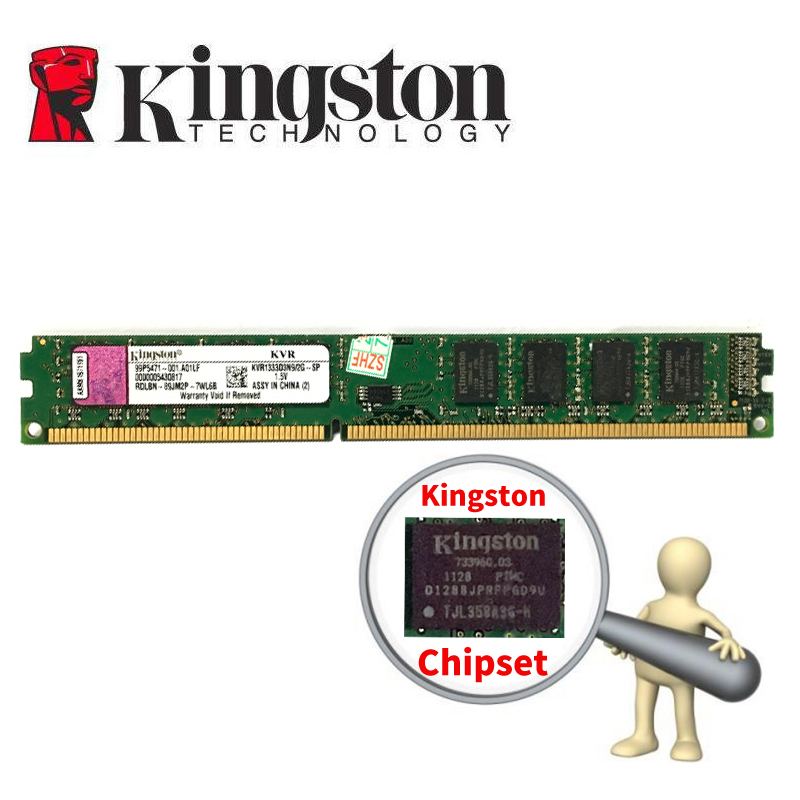 Kingston PC Memoria RAM Memoria módulo escritorio DDR3 2 GB 4 GB PC3 1333 1600 MHz 1333 MHz 1600 MHz 10600 12800 2G 4G RAM
