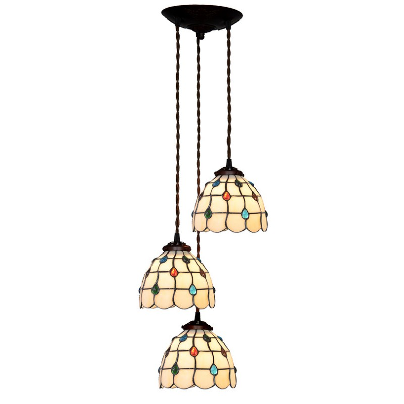 Nordic Cotemporary Luxury Stained Glass Modern Simple LED Hang Pendant Lamp Dining Living Room Restaurant Three Light Lighting high quality usa znse co2 laser lens 20mm dia focal 63 5mm focus length for laser engraving cutting machine