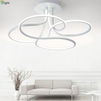 北欧シンプルなアルミledシーリングシャンデリアランプ器具光沢アクリル寝室ledシャンデリア照明ライトluminaria