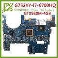 Материнская плата KEFU G752VY для ASUS G752VS G752V G752VM G752 G752VY  материнская плата для ноутбука  материнская плата для ноутбука  материнская плата  процес...