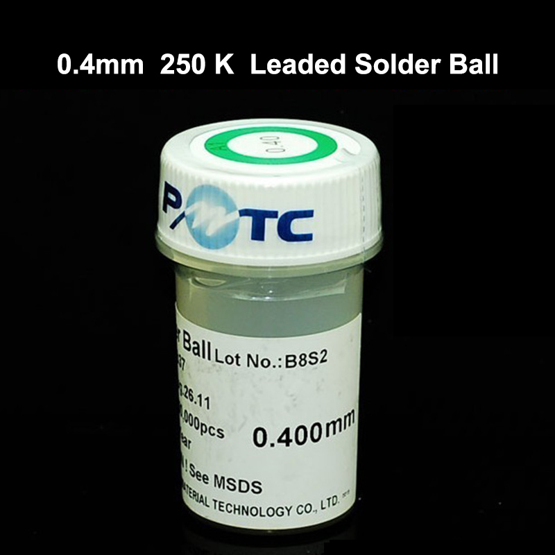 купить PMTC 250K 0.4/0.45/0.5/0.55mm BGA Leaded solder Ball bga rework reballing solder ball For PCB Chips Motherboard Repair онлайн