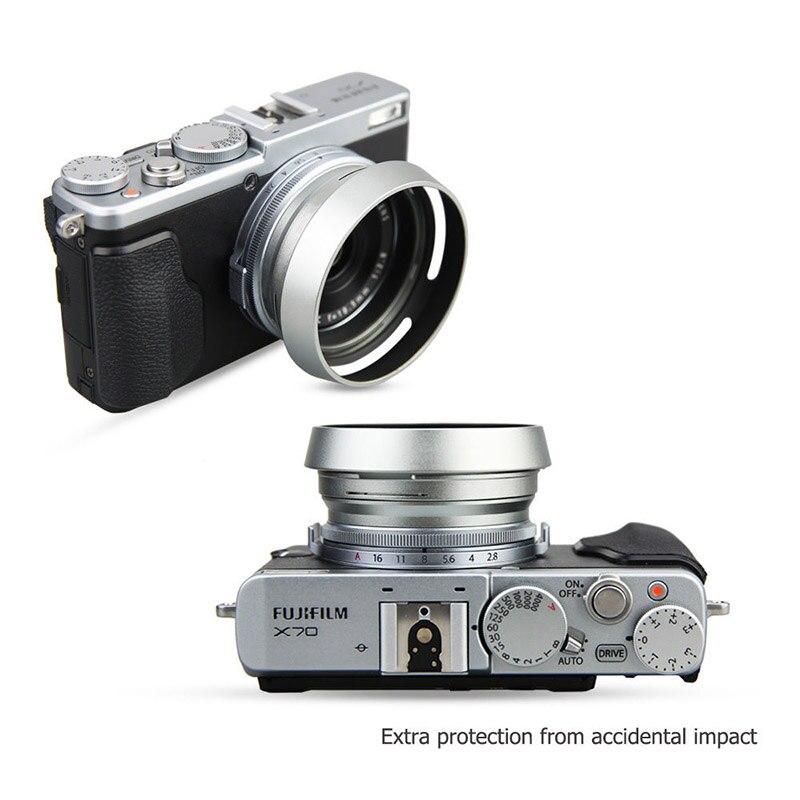 US $3 55 15% OFF|Foleto Metal Lens Hood Shade + 49mm Adapter Ring for  Fujifilm X100F X70 X100T X100S LH X100 Back Silver LA 49 X100-in Camera  Lens
