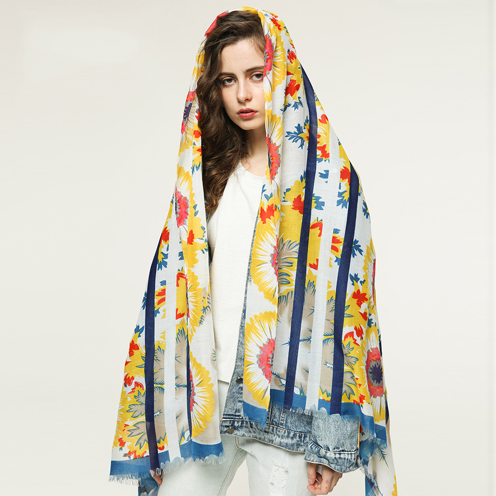 Fashion Print Cotton Scarves Sjaal Muslim Hijab Plain Floral Viscose Scarf Shawl From Indian Bandana Wraps Foulards in Women 39 s Scarves from Apparel Accessories