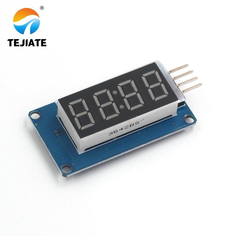 TM1637 LED Display Module 7 Segment 4 Bits 0.36 Inch Clock RED Anode Digital Tube Four Serial Driver Board Pack