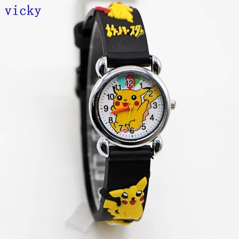 New Arrival 3D Cartoon Fashion Pikachu Kids Watch Children Kid Girls Boys Students Quartz Dress Watches Relojes Kol Saati