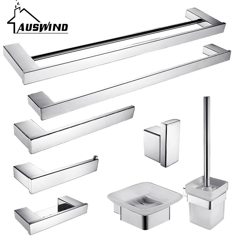 Moderno In Acciaio Inox Aisi Bath Hardware Sets Cromo Lucido ...