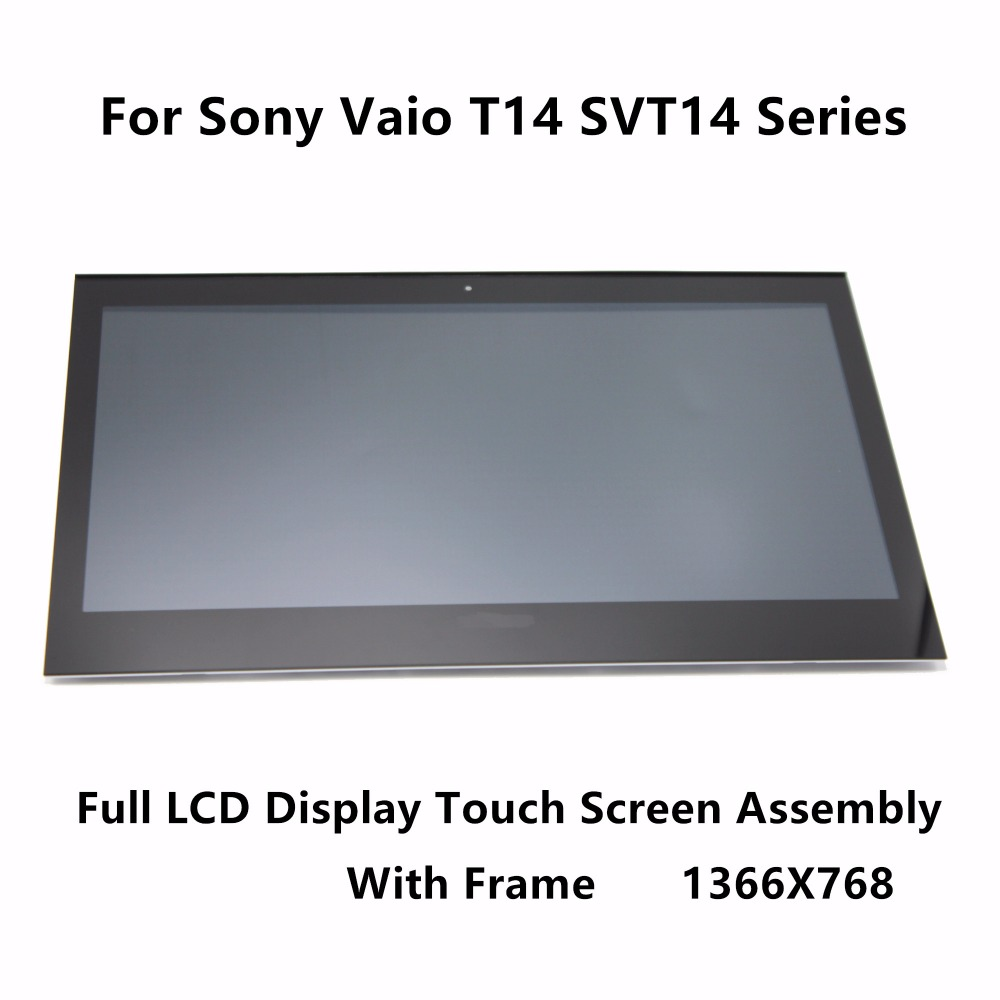 Touch Glass Digitizer LCD Display Screen Assembly + Bezel For Sony Vaio T14 SVT14 Series SVT14127CXS SVT141A11L SVT14125CLS