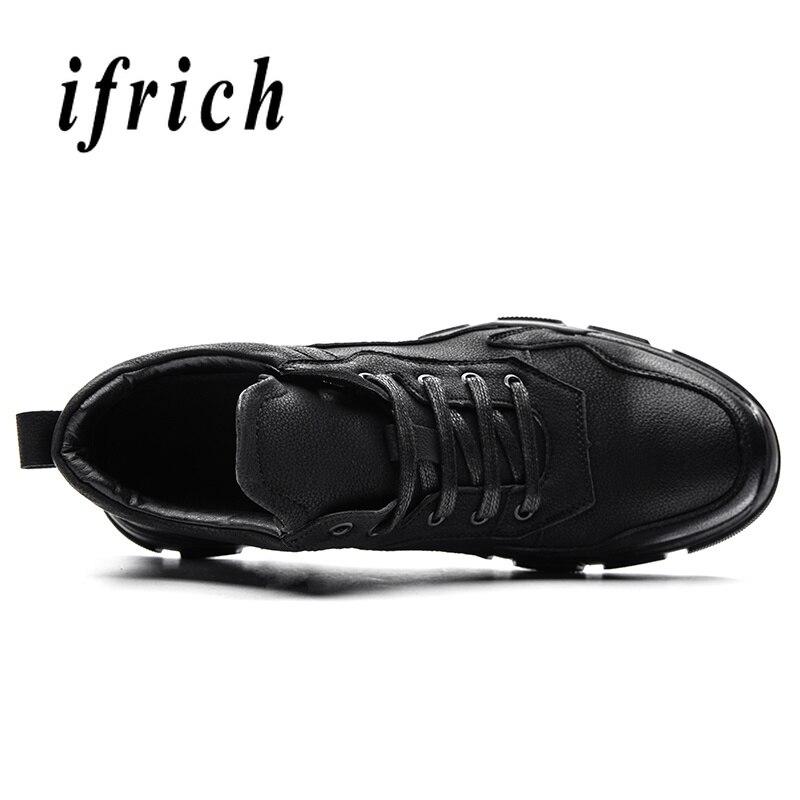 Ifrich Marche Mode Sport Des Cuir slip La Homme Plat Marque En High Chaude Noir Décontracté Pour Jeunes De Black Anti Top Hommes Chaussures jAL4R5