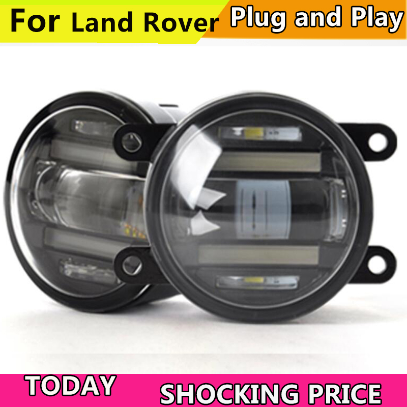 Car Styling Fog Lamp for Land Rover Range Rover Discovery Freelan LR2 LR3 LR4 Defender Fog