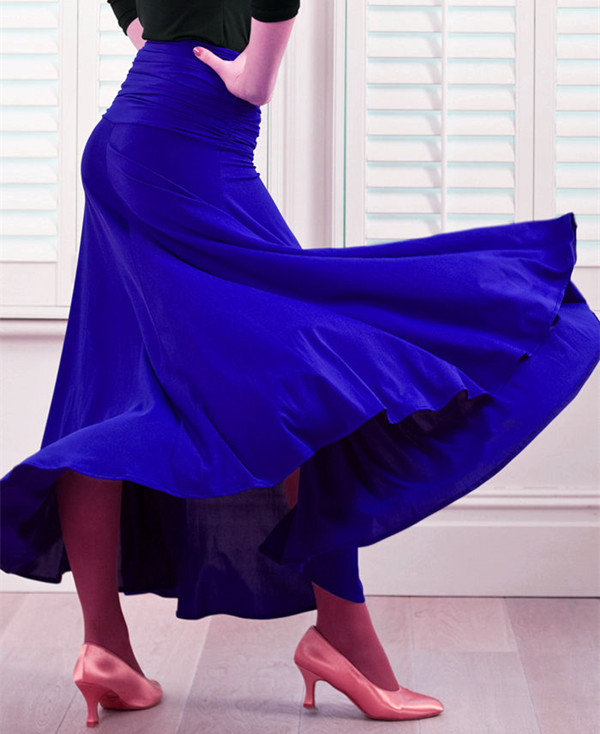 Blue Ballroom Skirt Ballroom Dance Skirts For Women Spanish Skirt Waltz Dress Ballroom Dress Dancing Clothes Flamenco Skirt