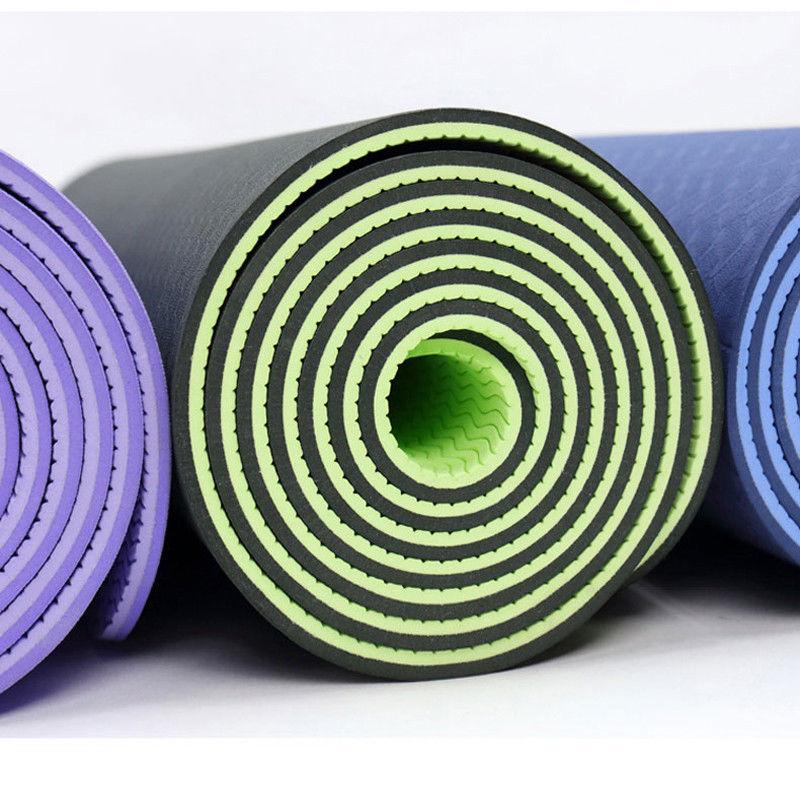 183*61*0.6CM TPE Pilates Non-skid Yoga Sided <font><b>Color</b></font> For Tasteless