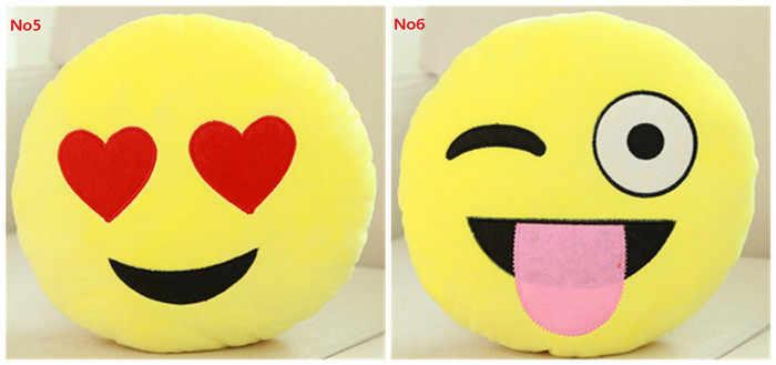 Criativo bonito Sorriso Emoji Travesseiro Almofada Dos Desenhos Animados QQ Expressão Facial 3D Presente de Aniversário Decoração de Casa Sofá Cama Throw Pillow emoji