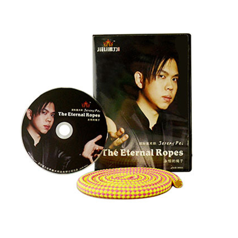The Eternal Ropes by Jeremy Pei ( (DVD + Gimmick ) mentalism illusions Stage Magic Trick Close Up Comedy 81526 instant flower vase to night lamp magic trick close up magic mentalism stage magic props comedy gimmick illusions party show