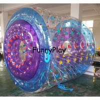 Multicolor Inflatable Roller For Water Game,Water Waling Roller Ball,Human Hamster Ball For Sale,Pool Water Walking Roller