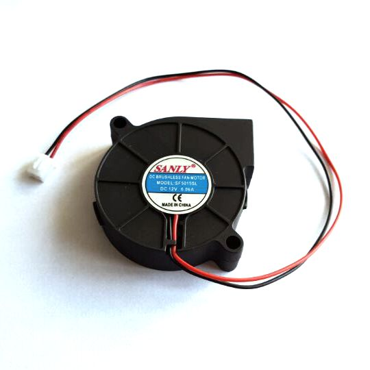 Free Shipping SANLY SF5015SL 12V 0.06A Ultra quiet humidifier turbo blower cooler fan for cooling System 5pcs fan 5v 12v 24v 50mm 5015 50x50x15mm blower turbo fan pla reprap 3d printer humidifier centrifugal turbo blower cooling fans