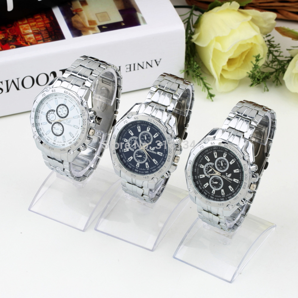 Famous Brand Stainless Steel Quartz Watch Military Crystal Casual Analog Watches New Hot Selling