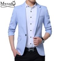 Mwxsd Brand Men S Casual Slim Fit Solid Suit Blazer Jacket Men Wedding Dress Blazer Male