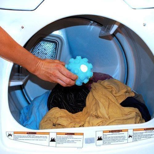 2 X removedor de arrugas liberación bolas del secador de lavandería suavizante bola blanquear y hierro en un tiempo