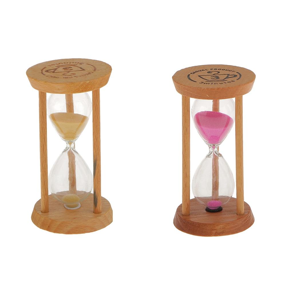 3Min Wooden Sand Sandglass Hourglass Timer Clock Unique Gift Home Office Decor