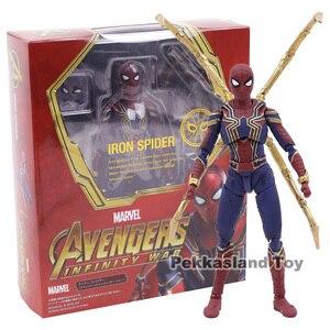 Image 1 - SHF wojna w nieskończoności Avengers żelazny pająk Spiderman PVC figurka Model kolekcjonerski