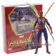 Shfアベンジャーズ無限大戦争iron spiderスパイダーマンpvcアクションフィギュアコレクタブルモデル玩具